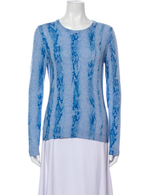 Brodie Cashmere Tie-Dye Print Sweater Blue - image 1
