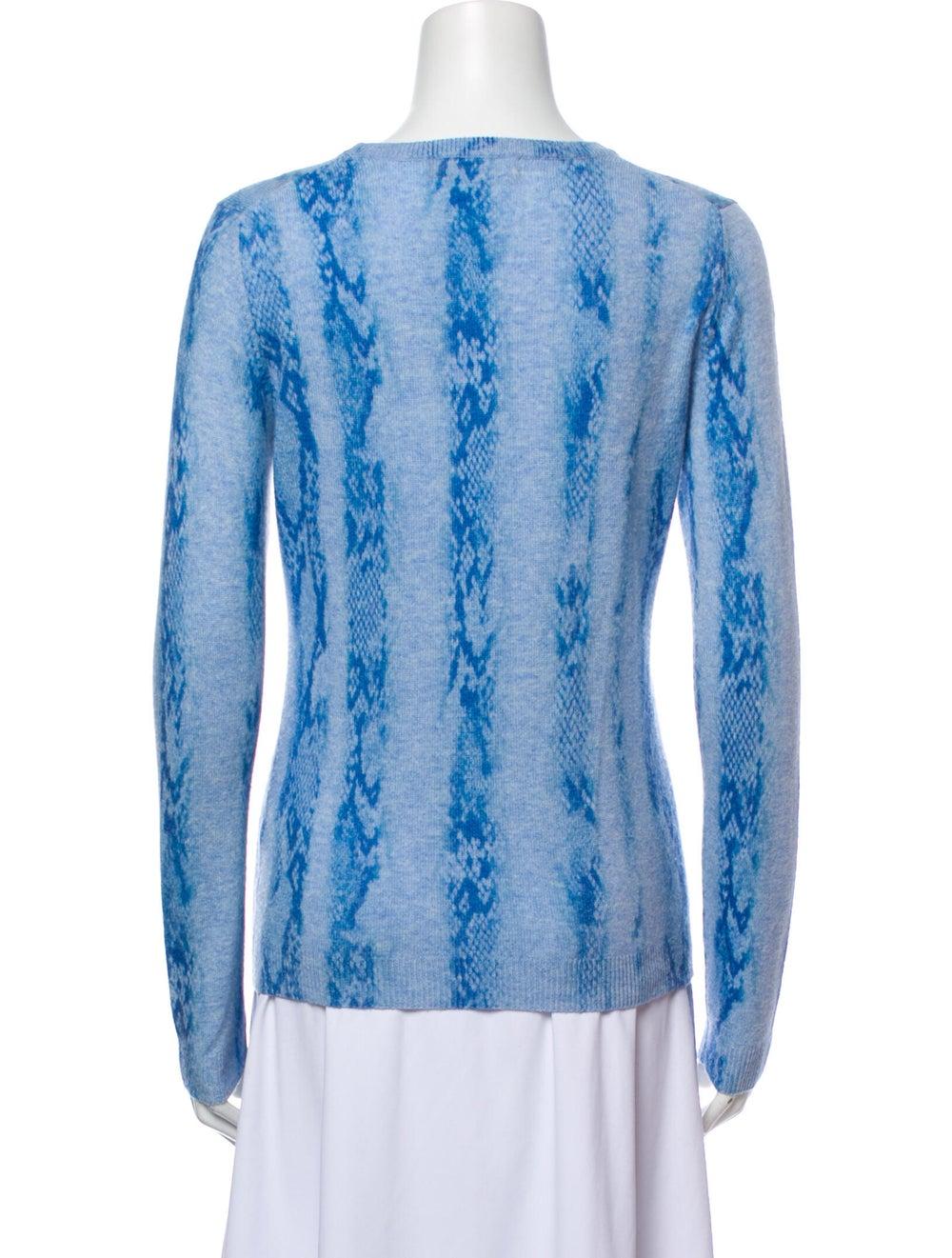Brodie Cashmere Tie-Dye Print Sweater Blue - image 3