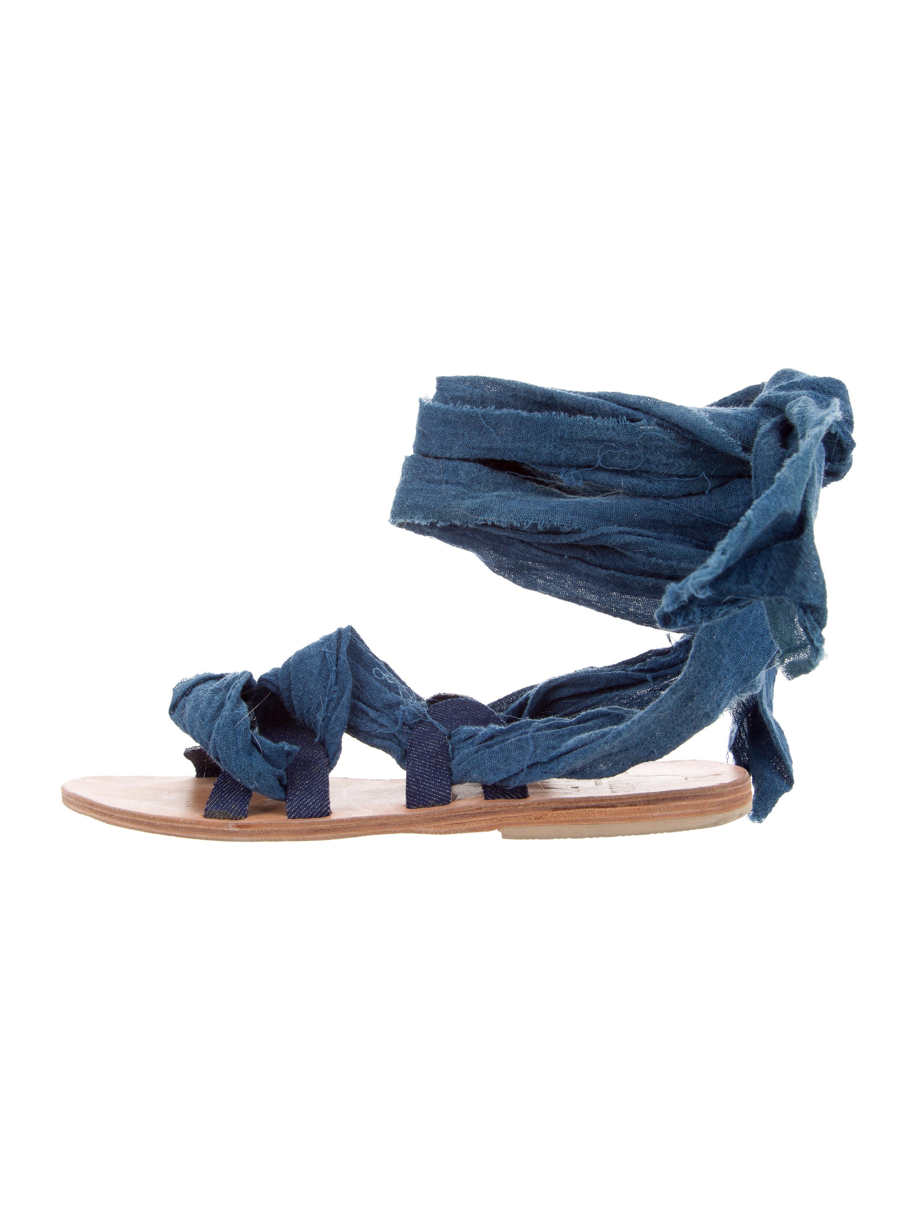 Brother Vellies Denim Wrap-Around Sandals buy cheap manchester great sale outlet 2015 extremely cheap online Pxf0yMrHG9