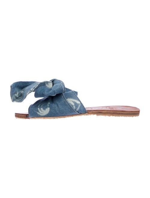 Brother Vellies Burkina Slides Printed Slides Blue
