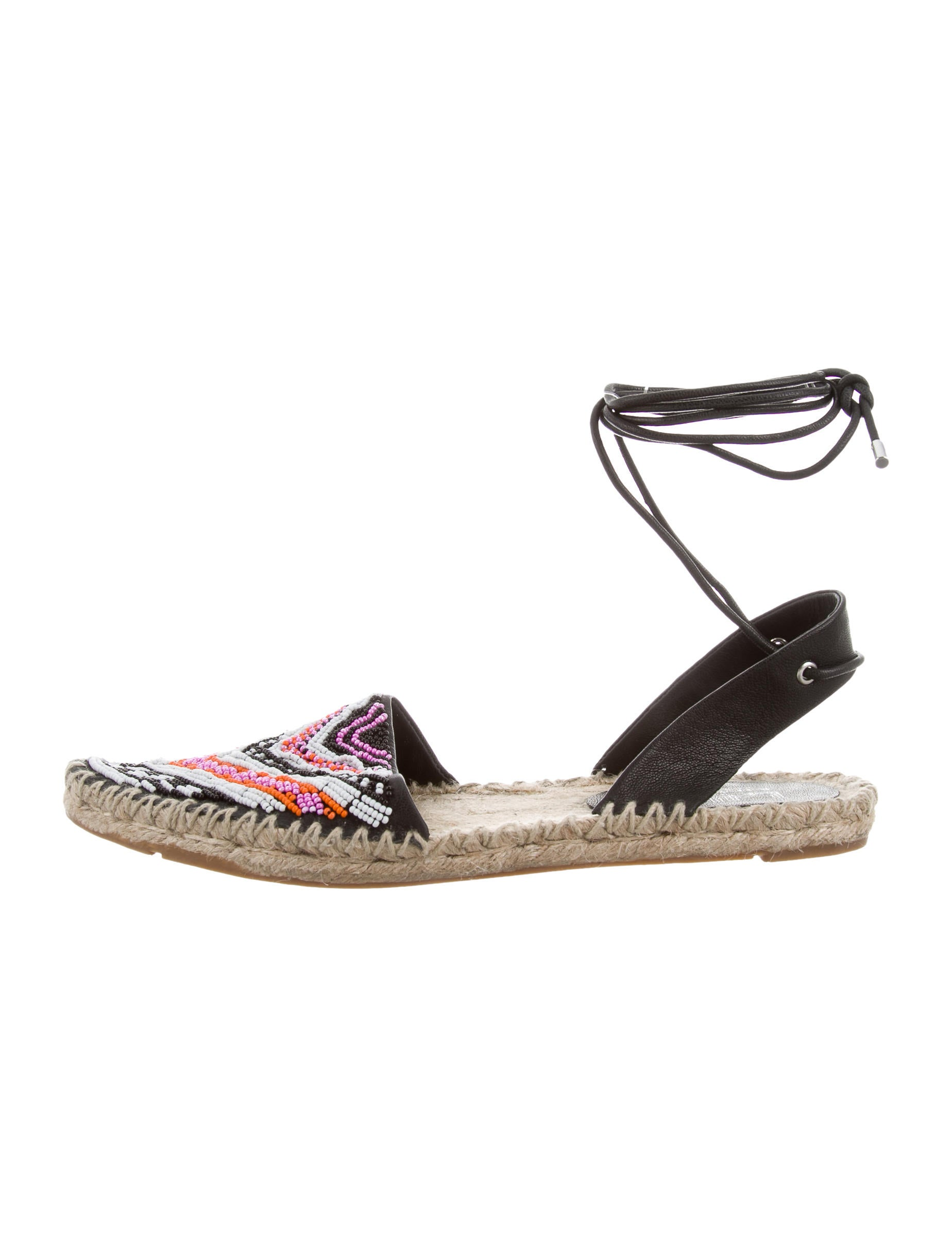 Sigerson Morrison Beaded Lace-Up Espadrilles w/ Tags perfect cheap online finishline online free shipping shopping online outlet eastbay PzWGlQC
