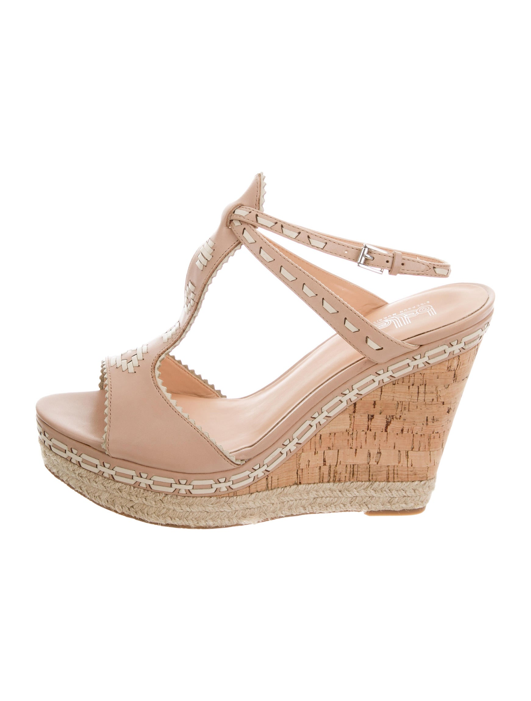 Belle by Sigerson Morrison Perforated T-Strap Wedges w/ Tags countdown package online cheap 100% authentic sale Cheapest cheap price wholesale cheap sale really 1Ixhxt0