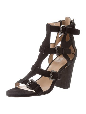 outlet limited edition recommend cheap price Sigerson Morrison Nubuck Cage Wedges Bv8RGtI