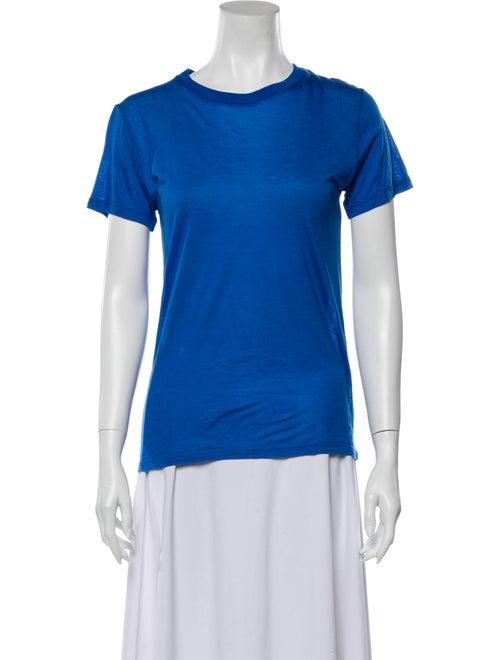 Baserange Crew Neck Short Sleeve T-Shirt Blue