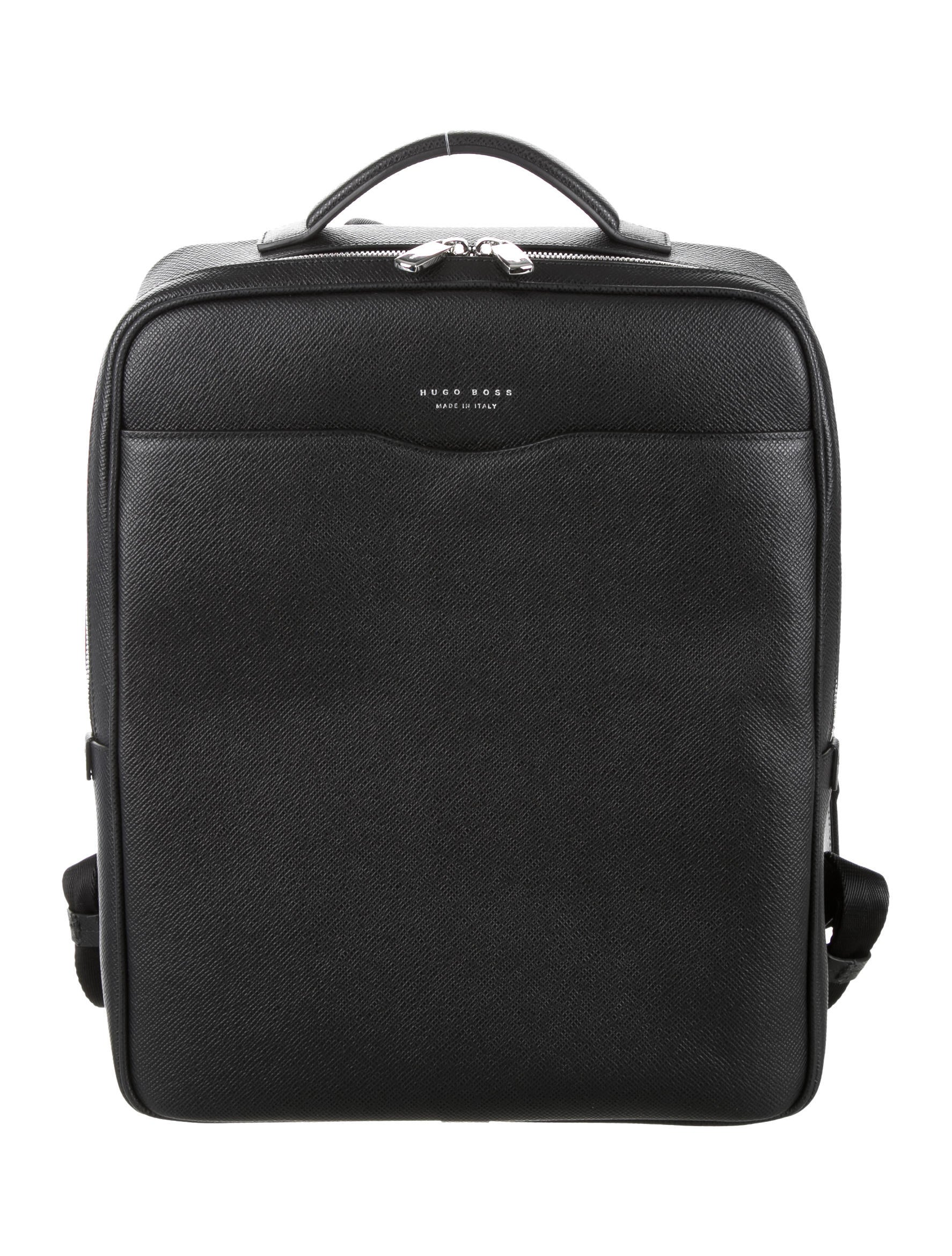 boss by hugo boss signature leather backpack w tags. Black Bedroom Furniture Sets. Home Design Ideas