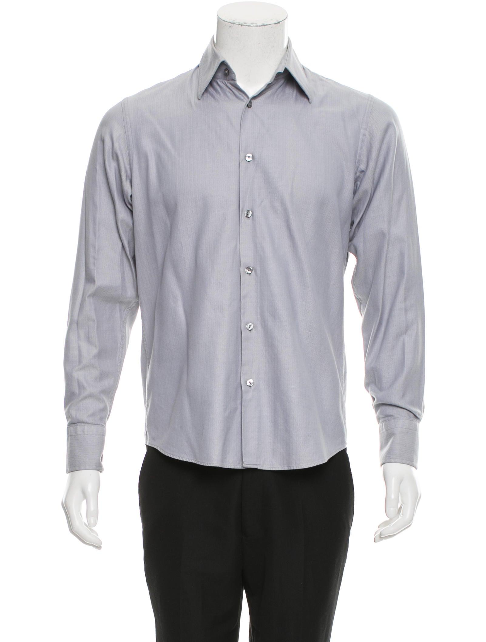 Boss by hugo boss herringbone button up shirt clothing for Hugo boss dress shirts