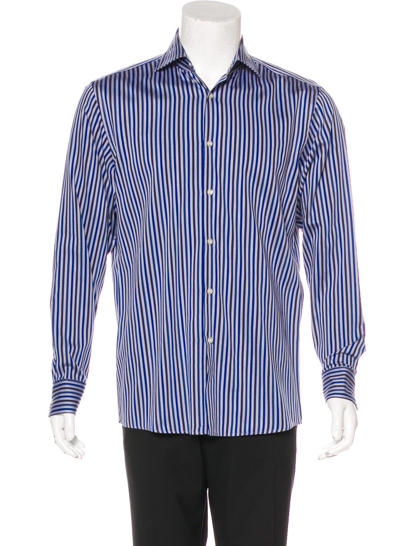 Boss by hugo boss miles striped shirt clothing for Hugo boss dress shirts