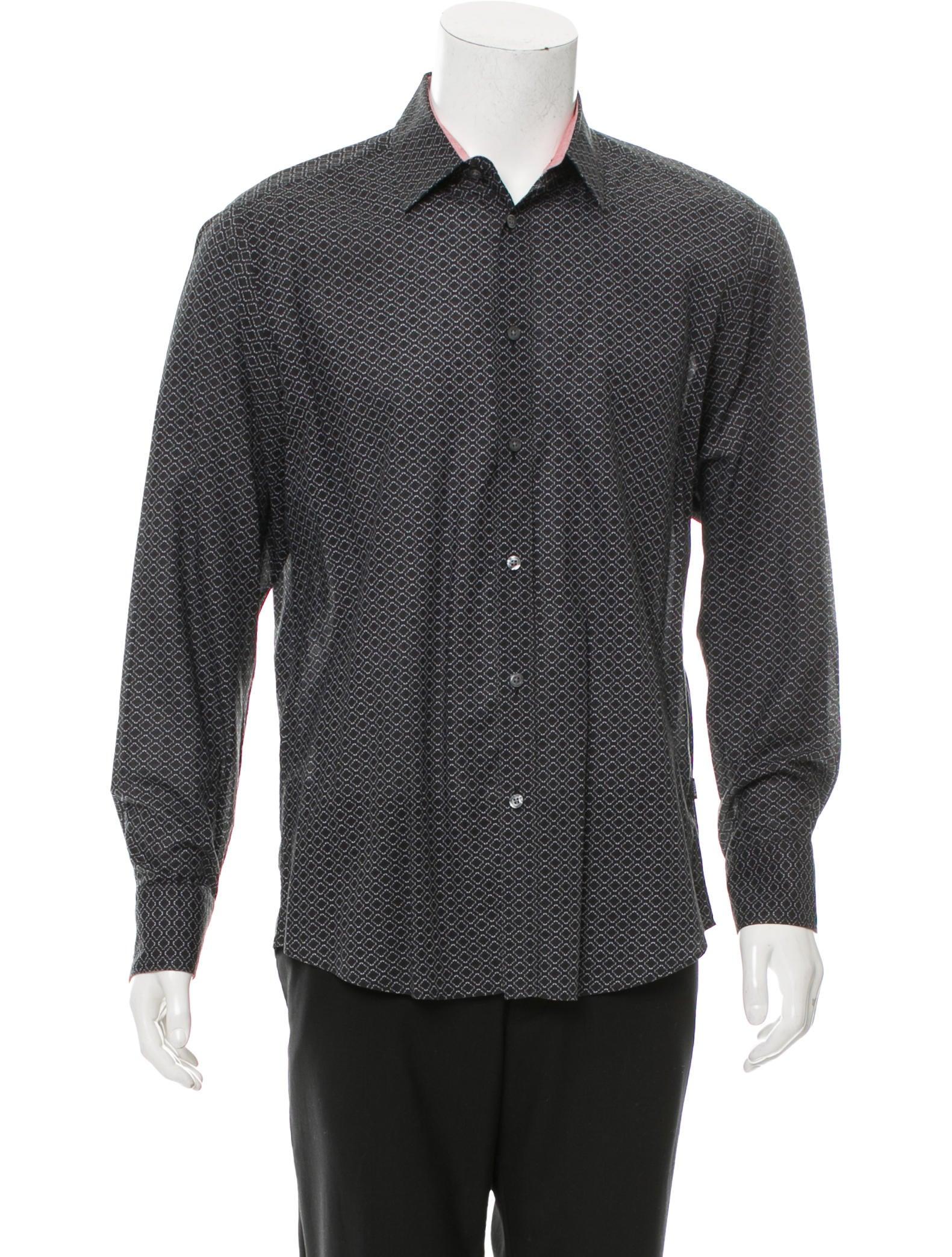 Boss by hugo boss geometric print button up shirt for Hugo boss dress shirts