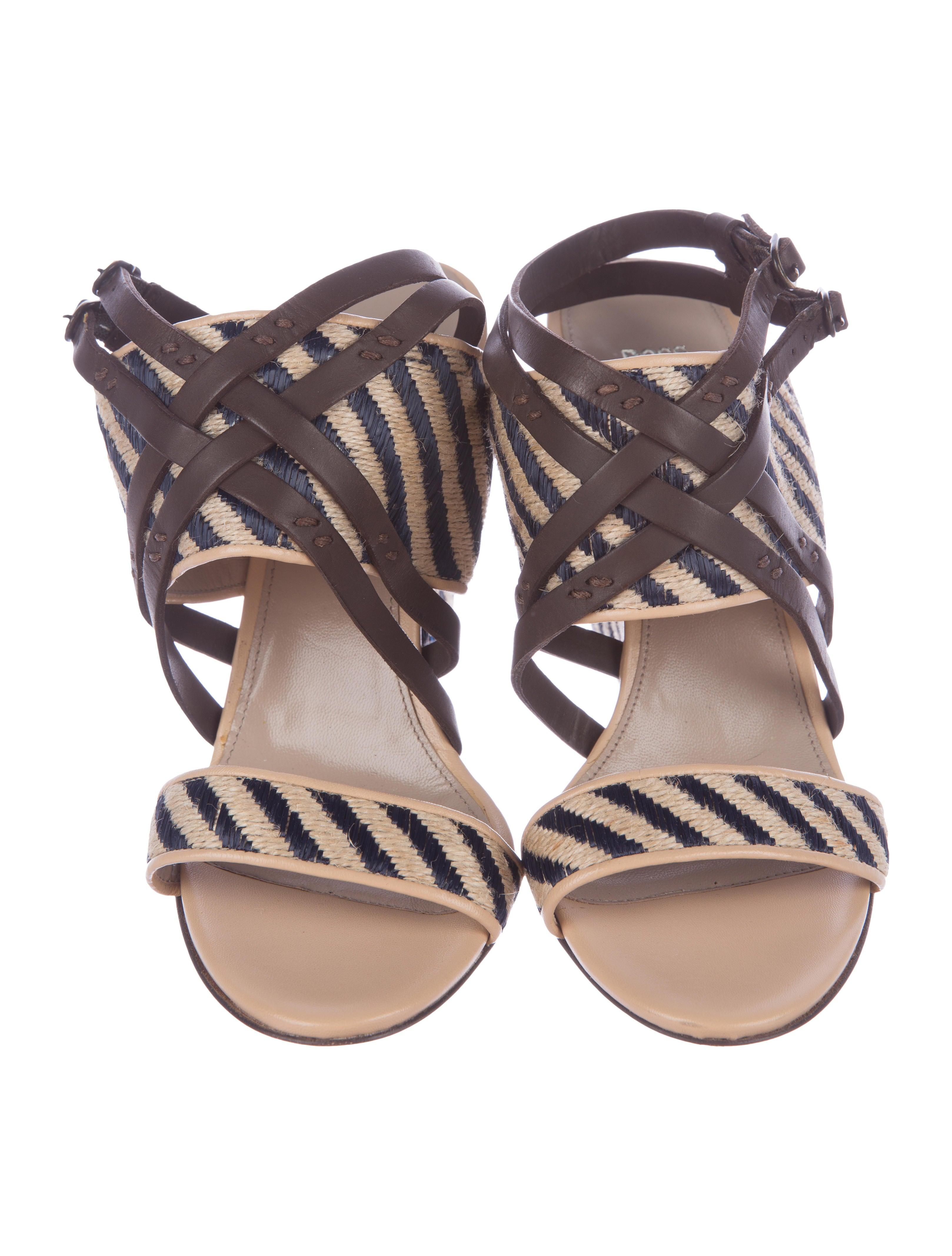 cheap sale collections Boss by Hugo Boss Erica Raffia Sandals discount Cheapest ZgQJmn