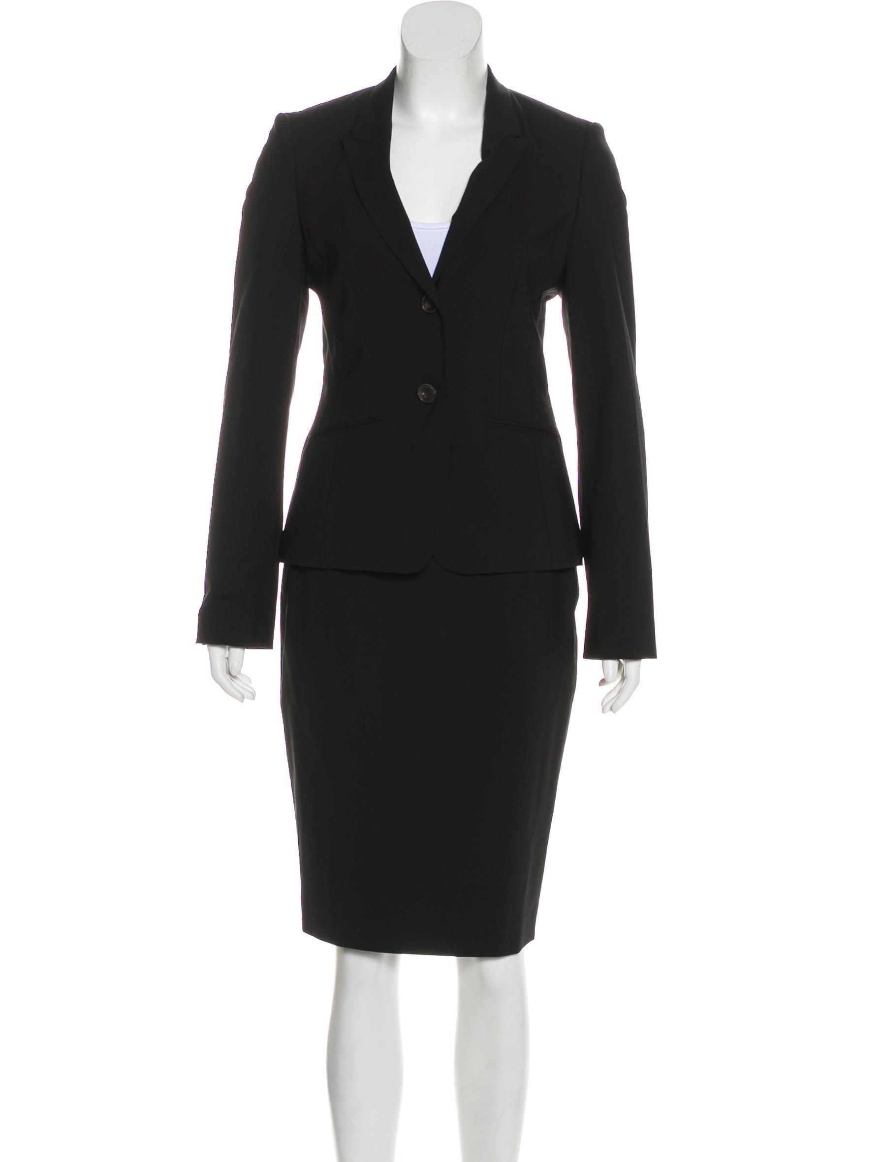 bcb62fbe5 Boss by Hugo Boss Virgin Wool Skirt Suit - Clothing - WBSSH21217 ...
