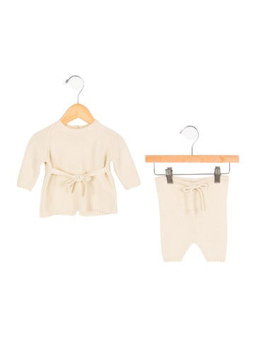 Babe & Tess Girls' Alpaca & Silk-Blend Two-Piece Set None