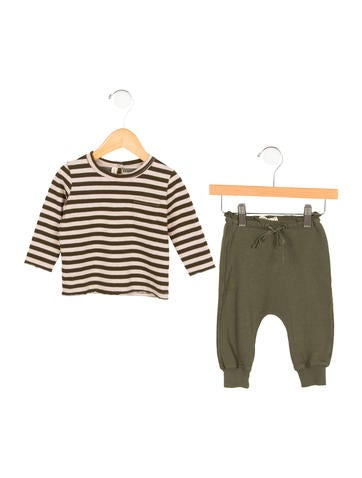 Babe & Tess Boys' Striped Rib Knit Two-Piece Set w/ Tags None