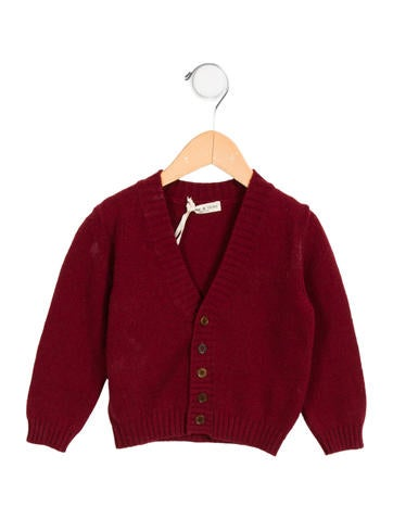 Babe & Tess Boys' Wool-Blend Button-Up Cardigan w/ Tags None
