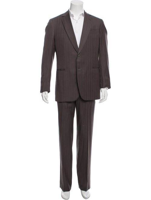 Battistoni Silk-Blend Pinstriped Two-Piece Suit