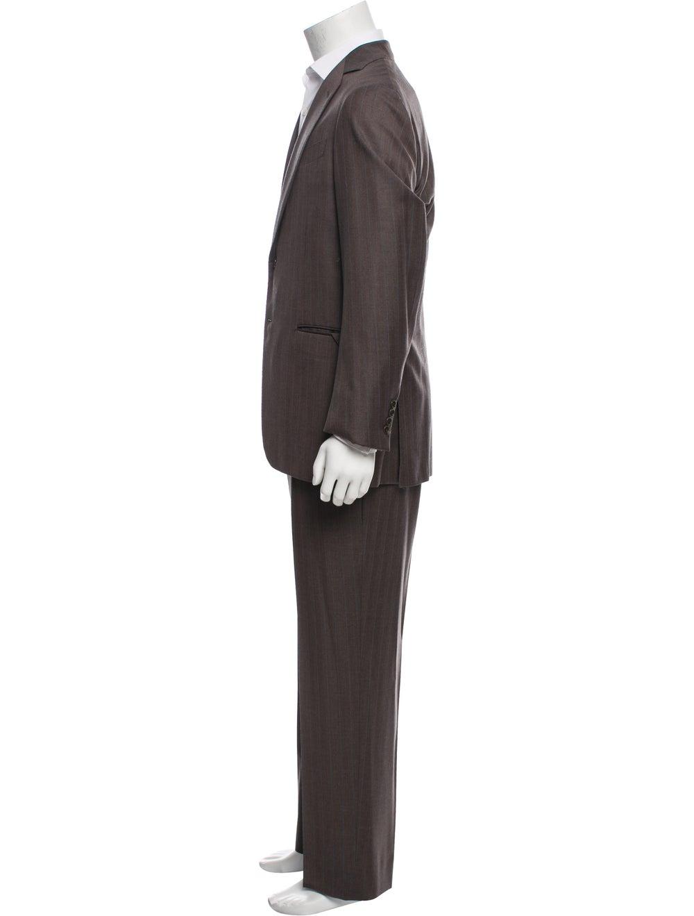 Battistoni Silk-Blend Pinstriped Two-Piece Suit - image 2