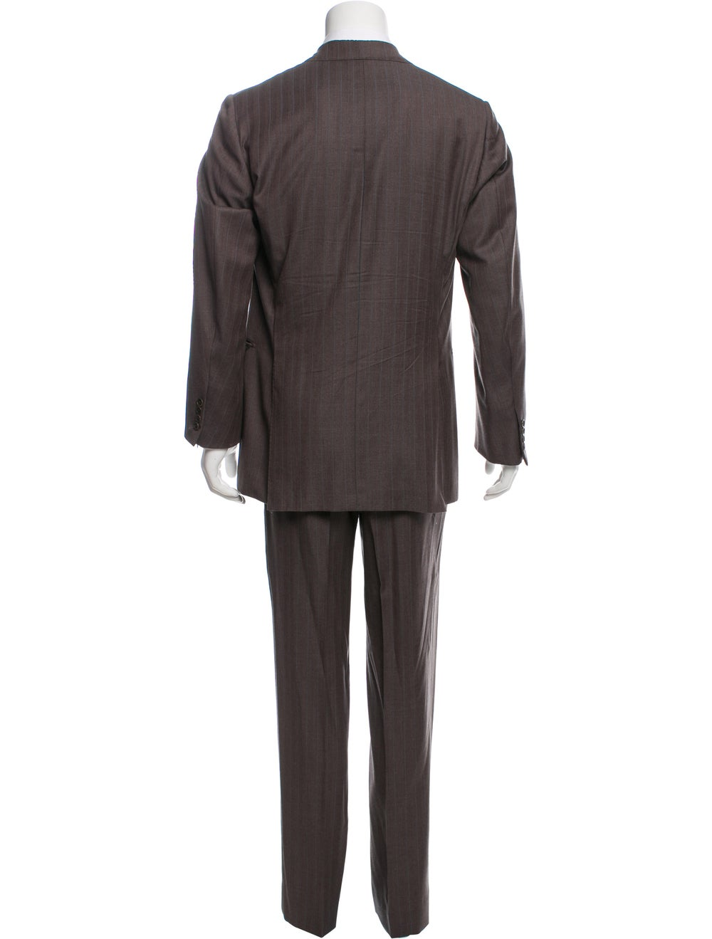 Battistoni Silk-Blend Pinstriped Two-Piece Suit - image 3