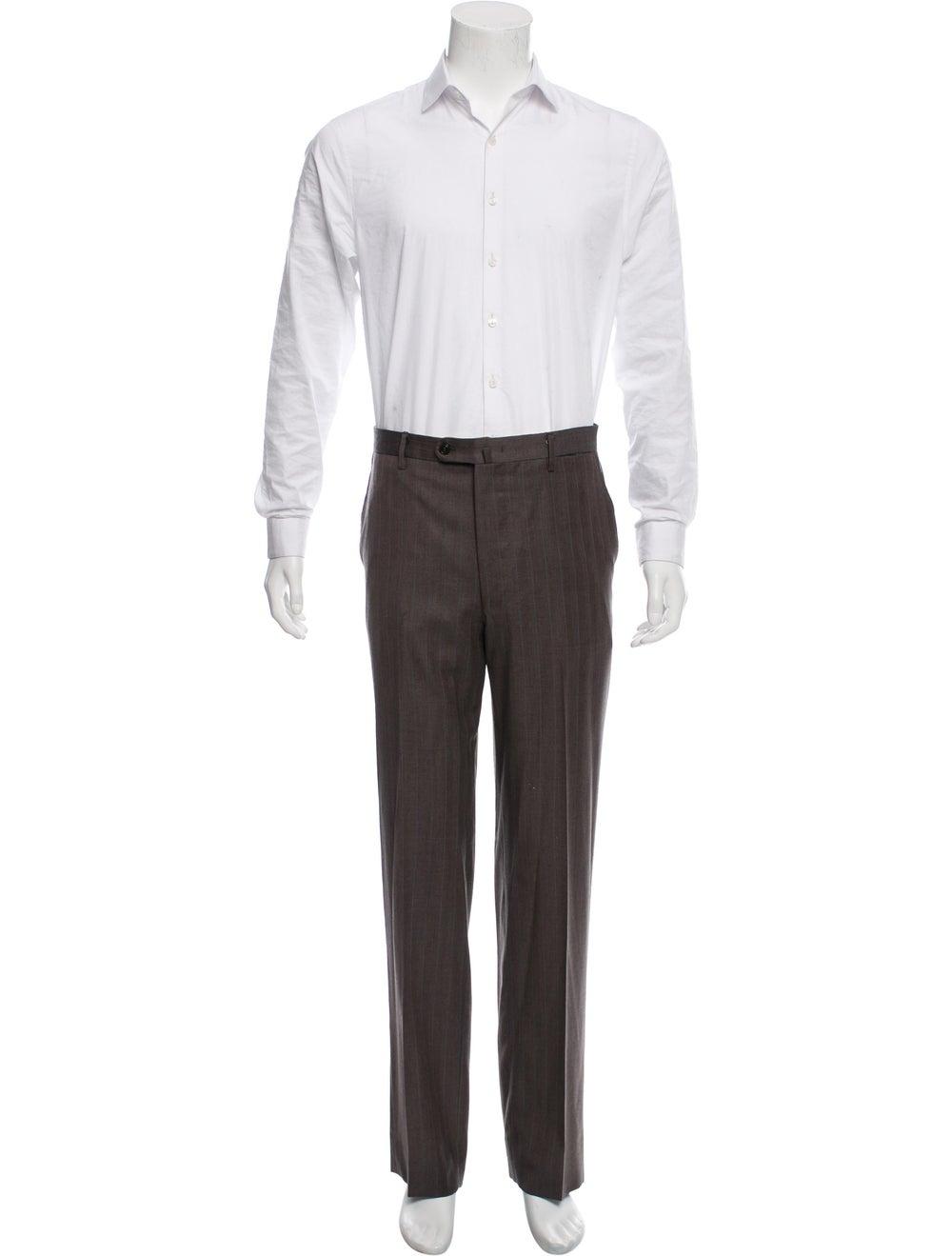Battistoni Silk-Blend Pinstriped Two-Piece Suit - image 4