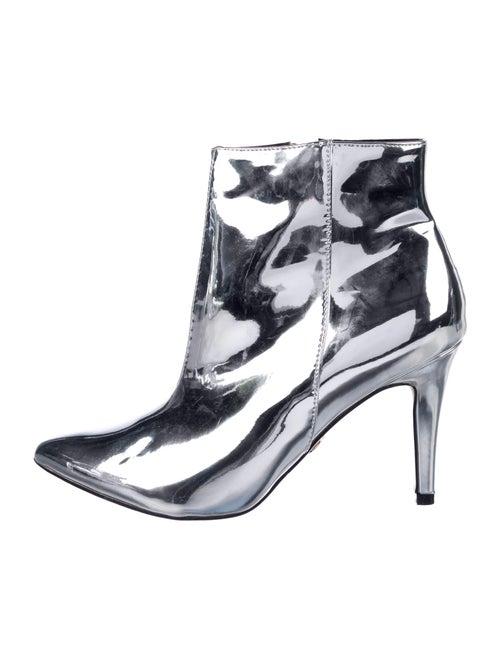 Buffalo London Patent Leather Boots Metallic
