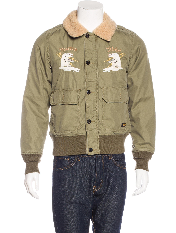 burton x neighborhood embroidered b 10 jacket clothing