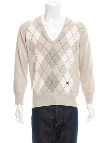 Burberry London Cashmere Patterned Sweater None