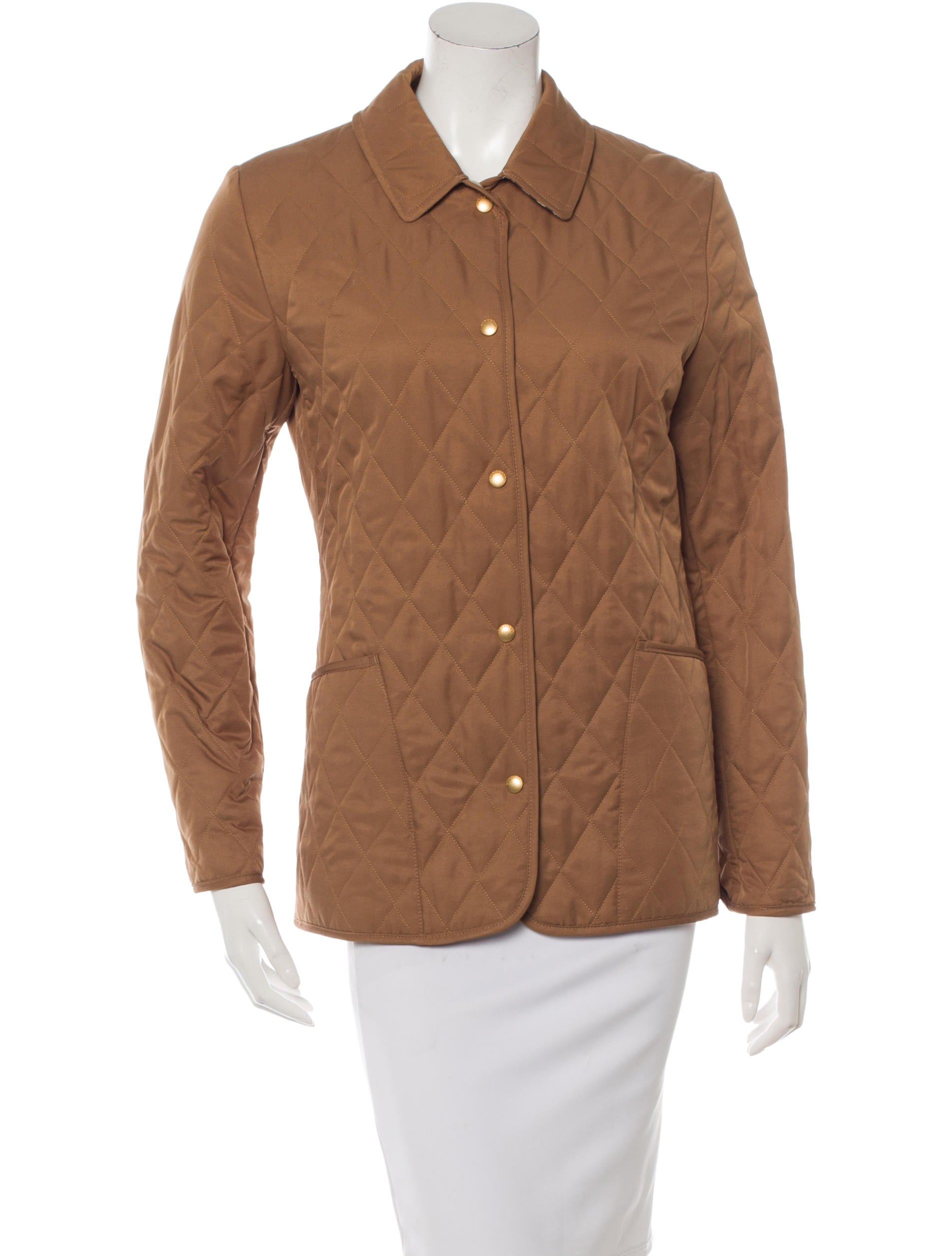 Shop Old Navy's Lightweight Quilted Jacket for Women: Rib-knit collar.,Long sleeves, with rib-knit cuffs.,Full-length zipper from hem to chin.,Slant welt pockets at front.,Smooth, lightweight quilted shell.
