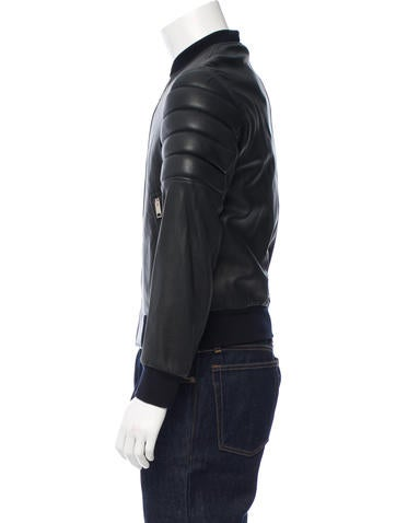 Burberry London Leather Bomber Jacket w/ Tags - Clothing - WBURL20824