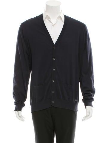Burberry London V-Neck Knit Cardigan None