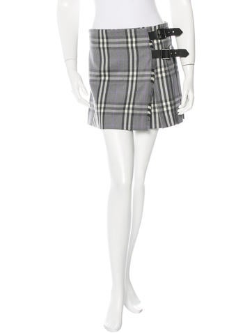 Nova Check Wool Skirt