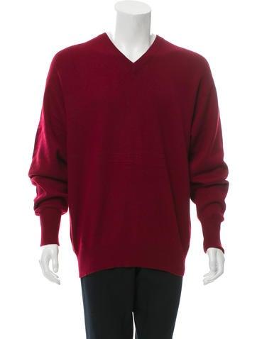 Burberry London Cashmere V-Neck Sweater None