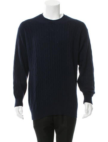 Burberry London Cashmere Cable Knit Sweater None