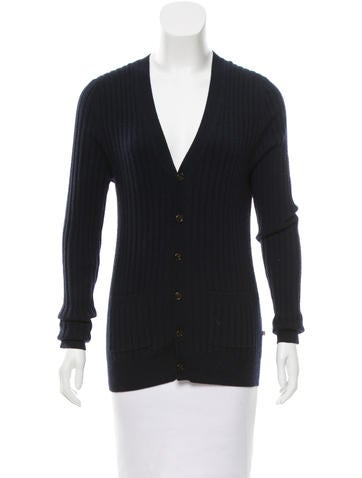 Burberry London Rib Knit Cashmere Cardigan None