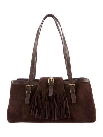 Burberry London Suede Fringe Shoulder Bag