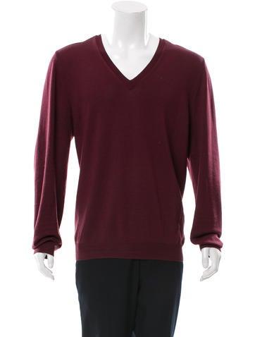 Burberry London Merino Wool V-Neck Sweater None