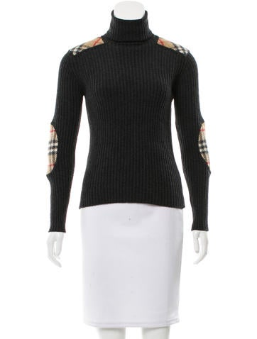 Burberry London Wool Turtleneck Top None