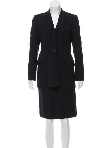 Burberry London Wool Two-Piece Skirt Suit