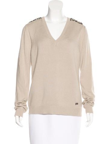 Burberry London Wool & Silk-Blend Sweater None