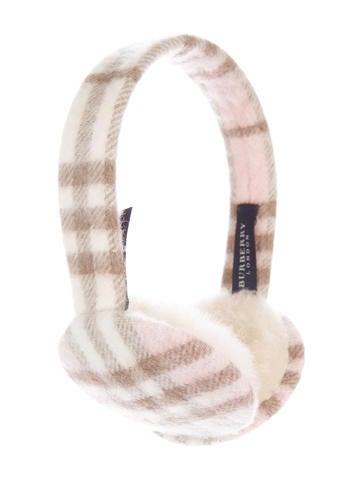 Burberry London Cashmere Nova Check Ear Muffs