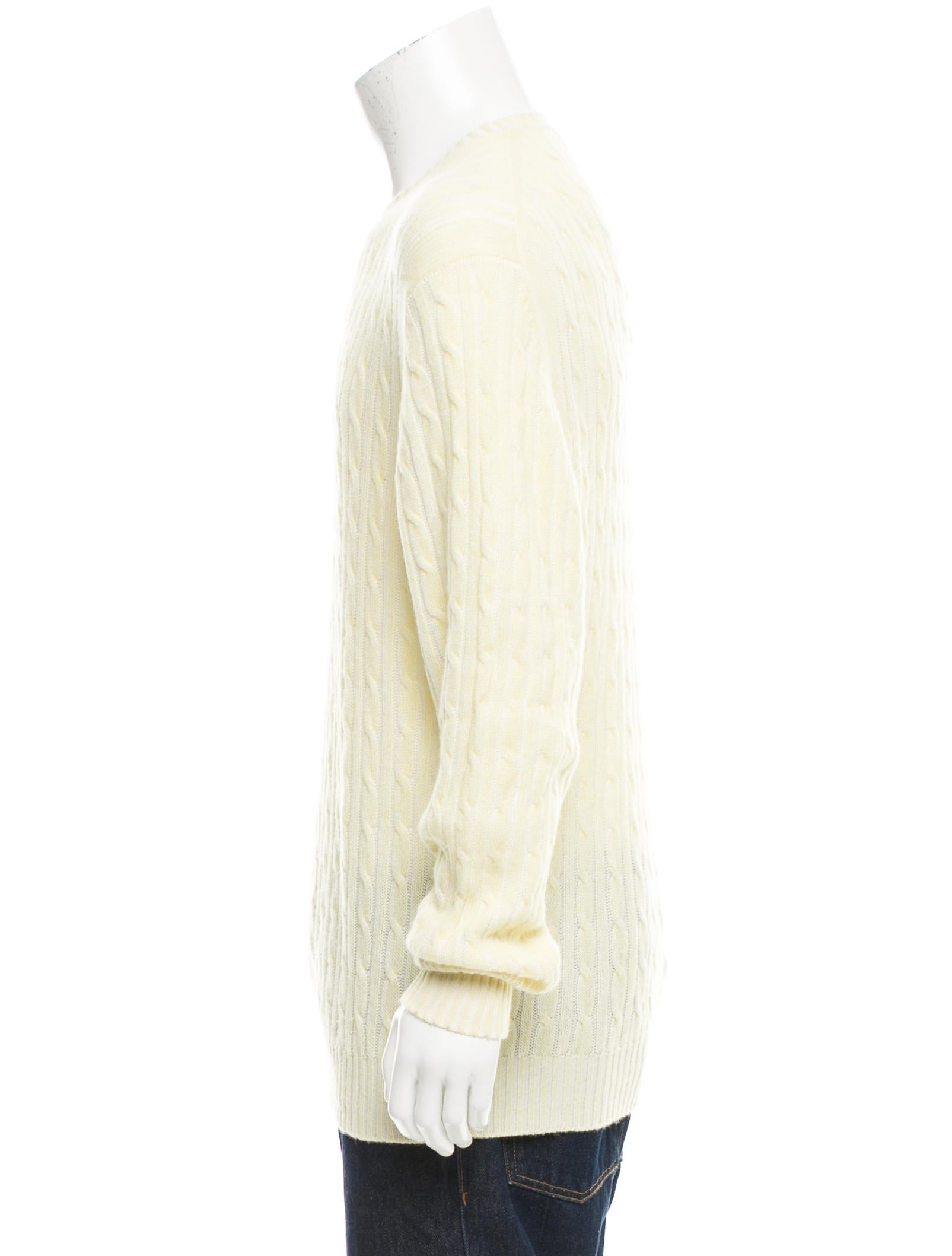 Cable Knit Crew Sweater 107