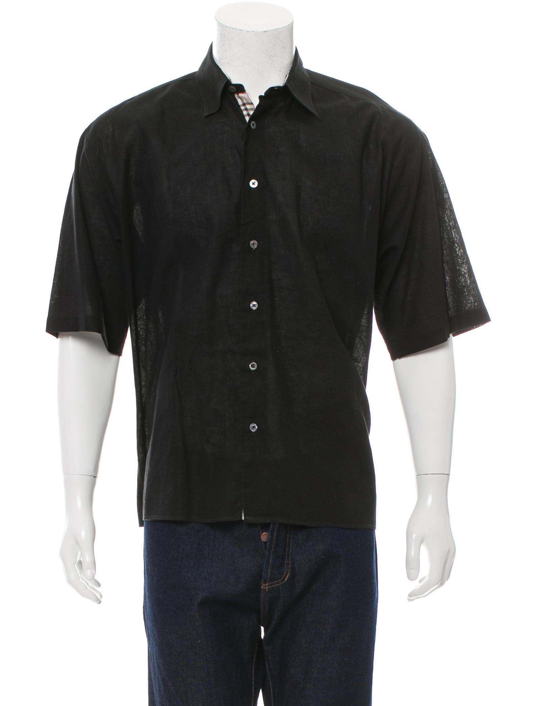 Burberry London Nova Check Trimmed Button Up Shirt