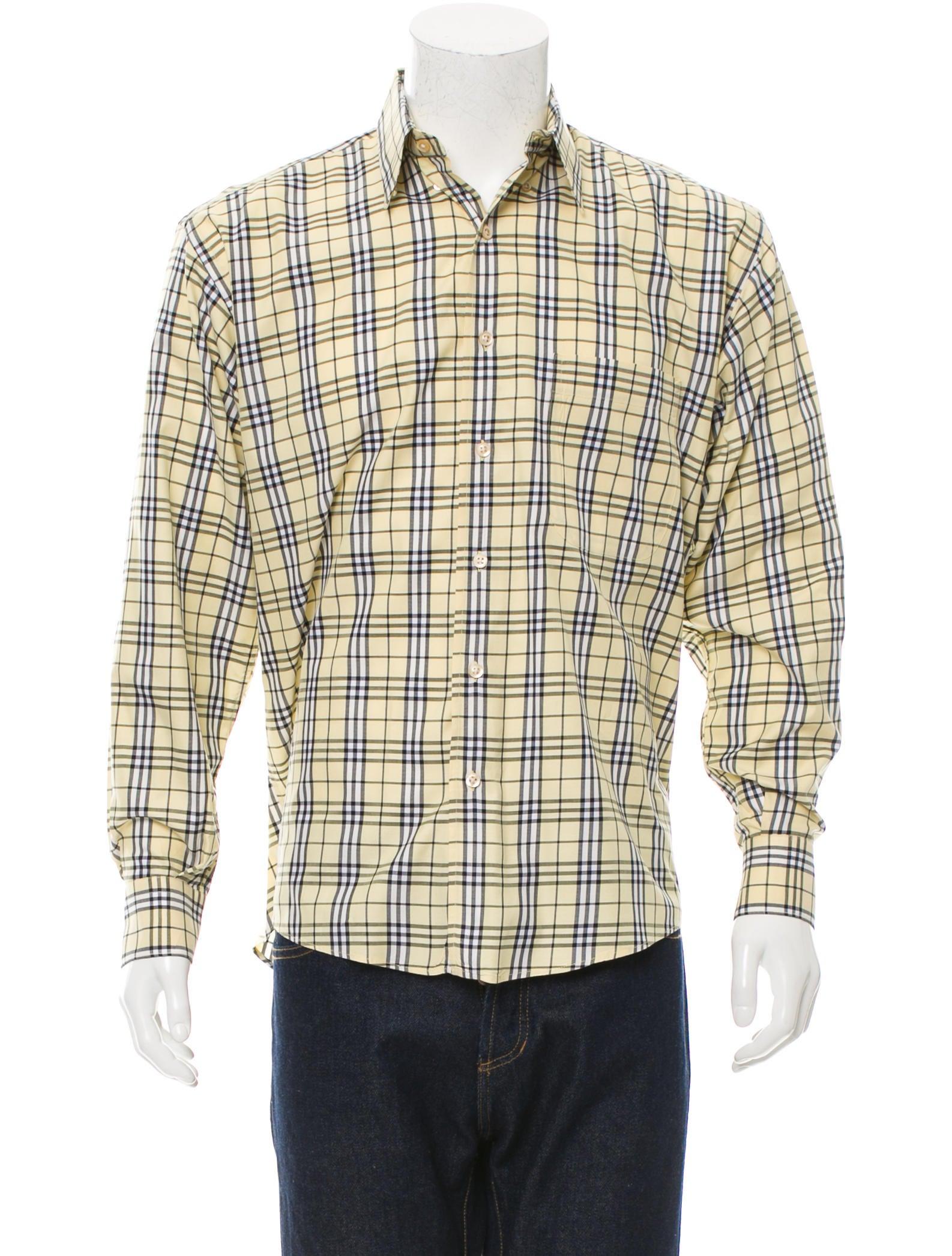 burberry london nova check button up shirt mens shirts