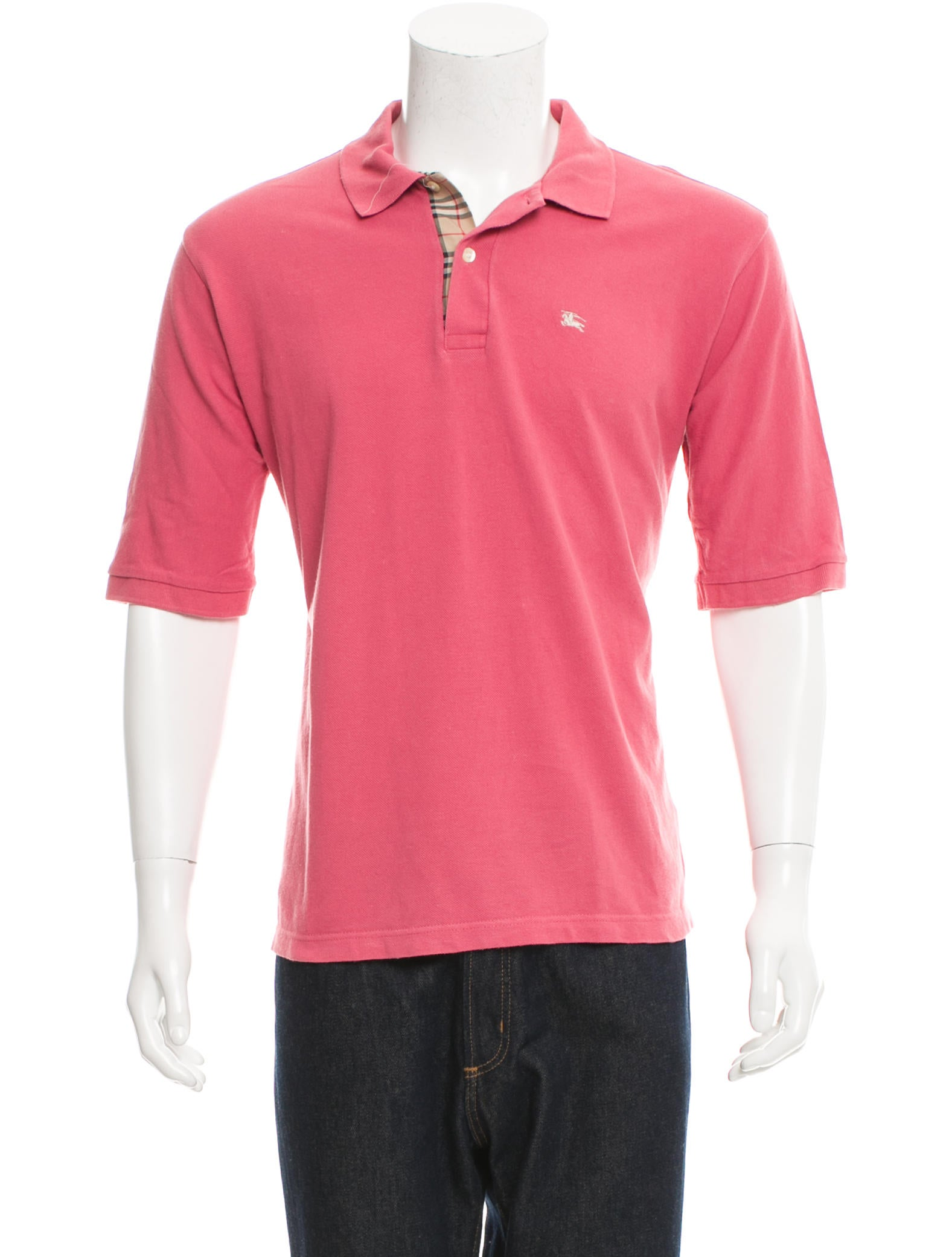 Burberry London Logo Embroidered Polo Shirt Clothing