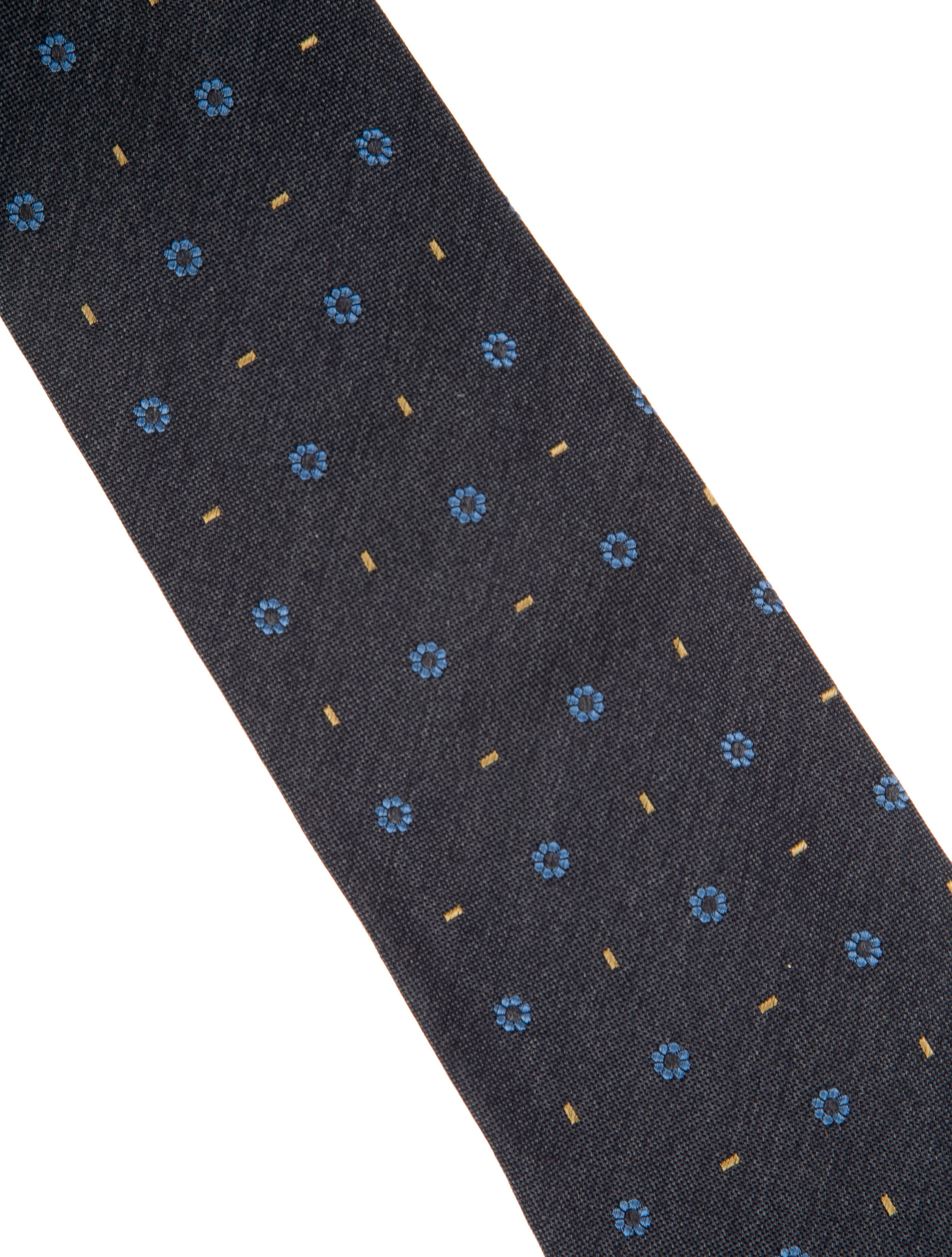 Burberry london silk floral embroidered tie suiting