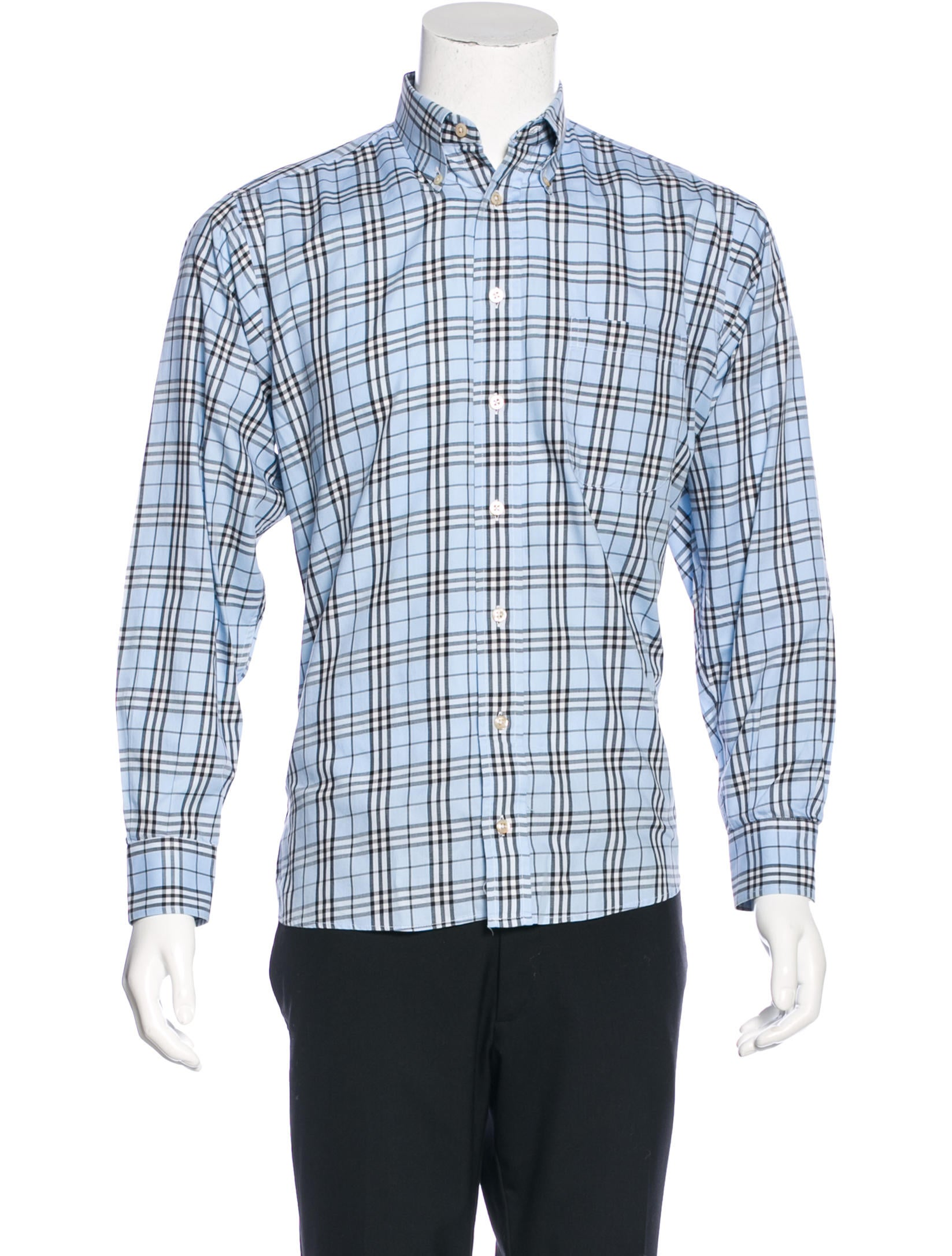 Burberry london nova check dress shirt clothing for Burberry check shirt dress