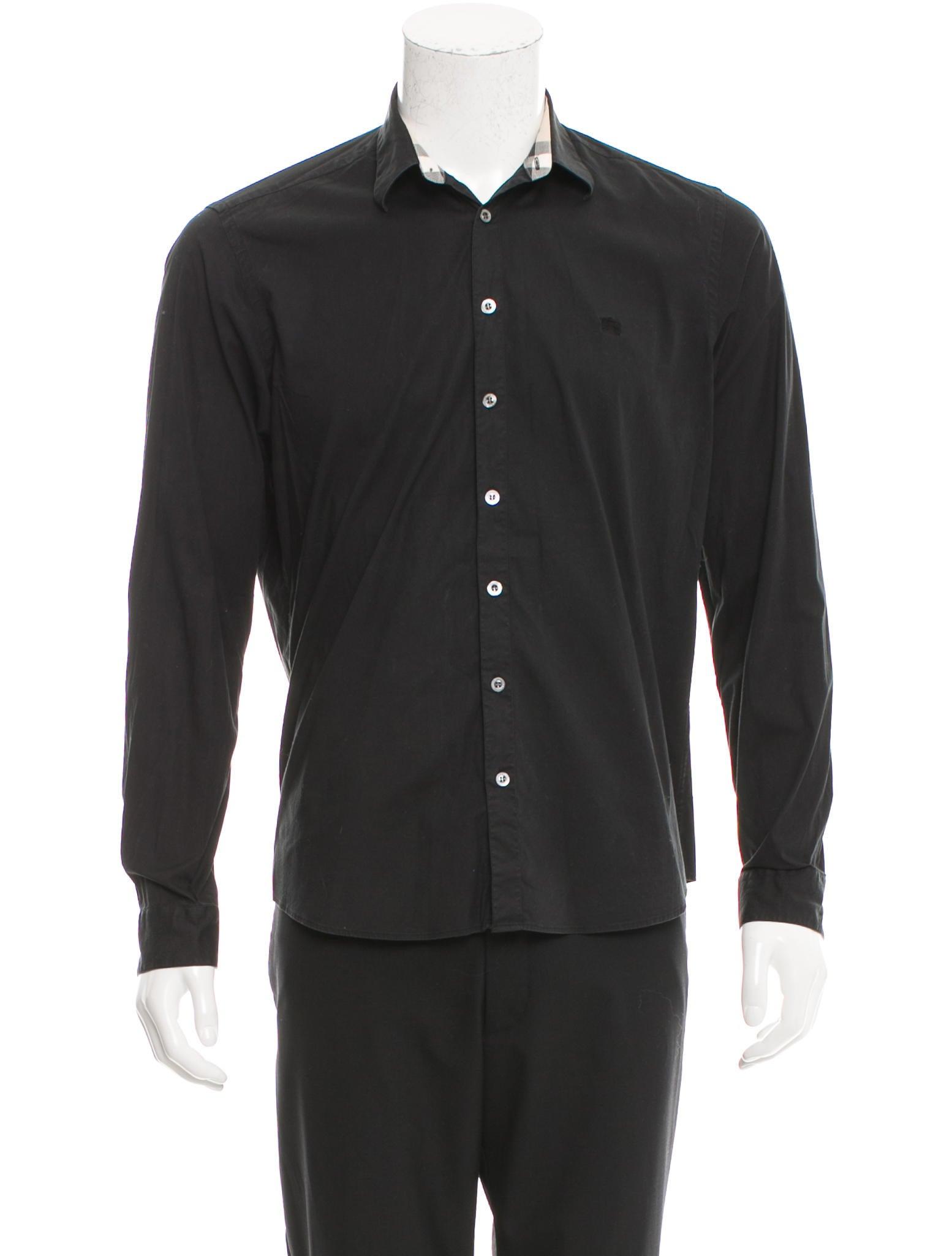 Burberry London Long Sleeve Button Up Shirt Clothing