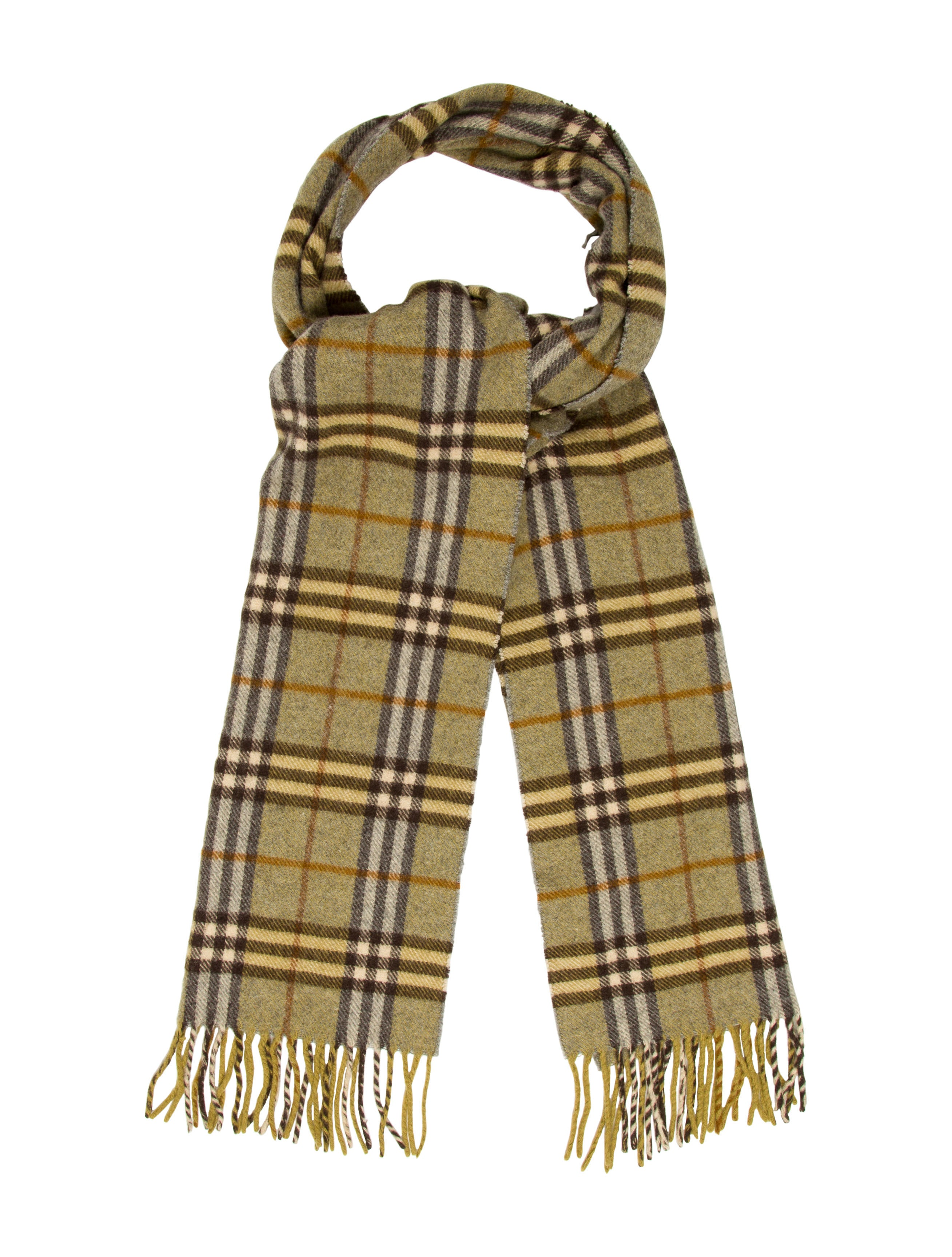 6f5263acf70 Burberry London Wool Nova Check Scarf - Accessories - WBURL23571