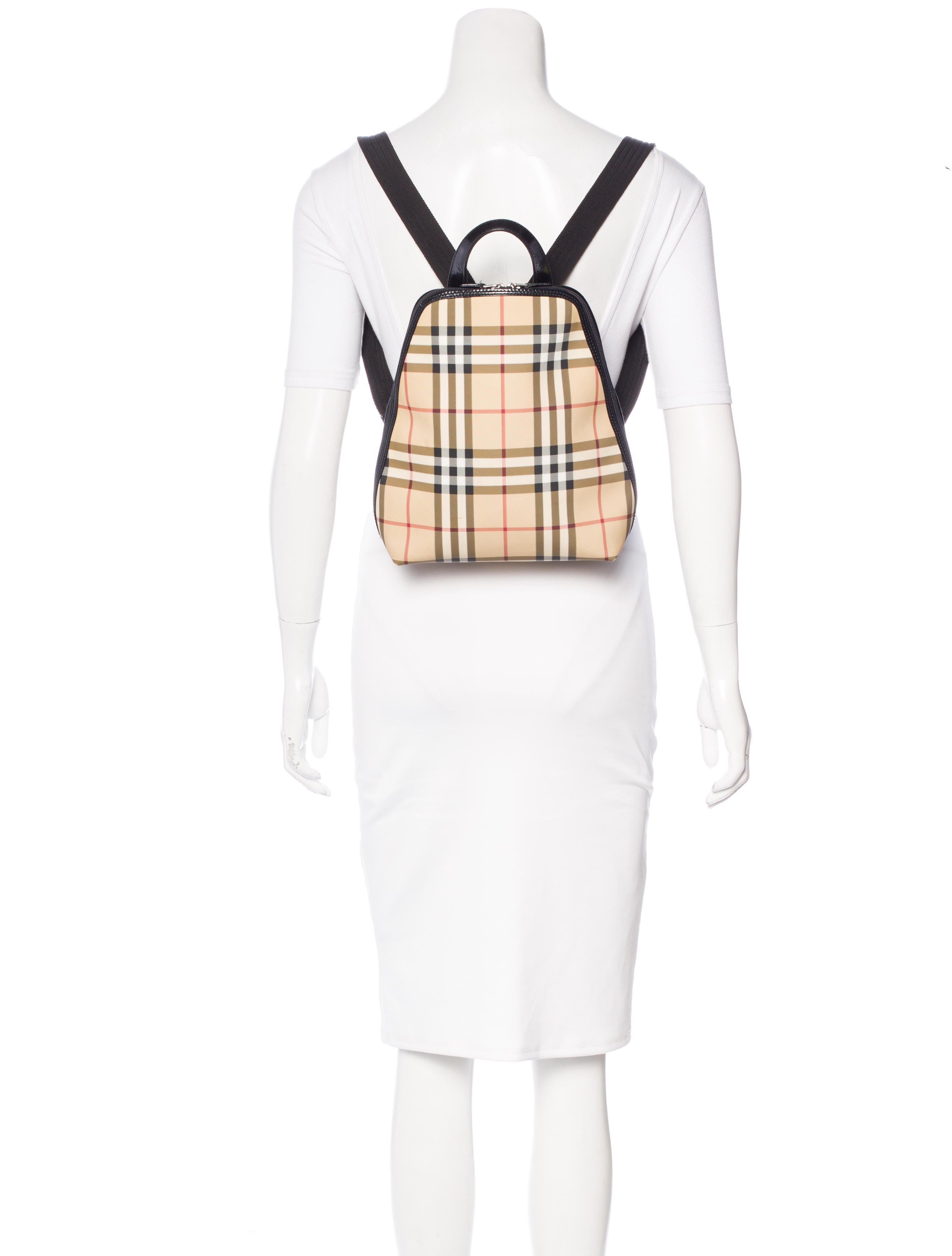 Burberry London Nova Check Backpack - Handbags ...