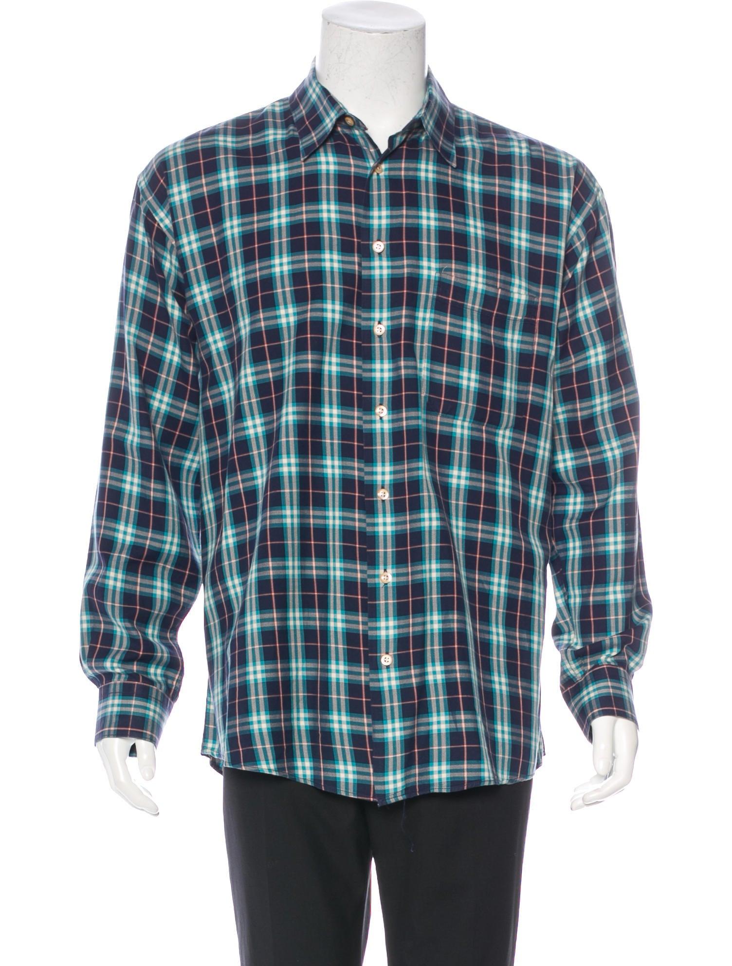 Burberry London Plaid Woven Shirt Clothing Wburl23748