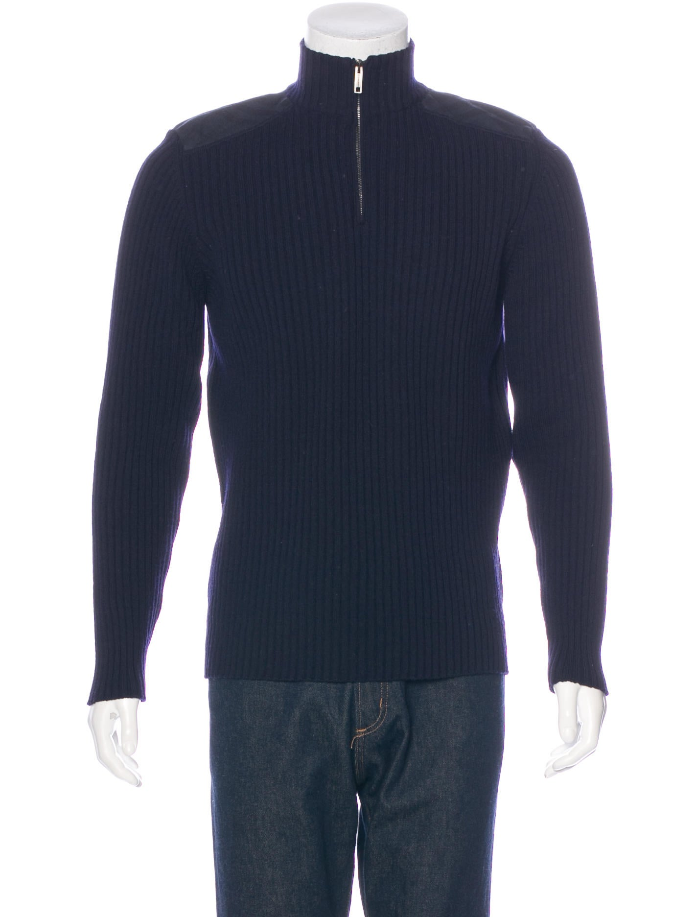 Burberry London Wool-Blend Half-Zip Sweater - Clothing - WBURL23760 | The RealReal