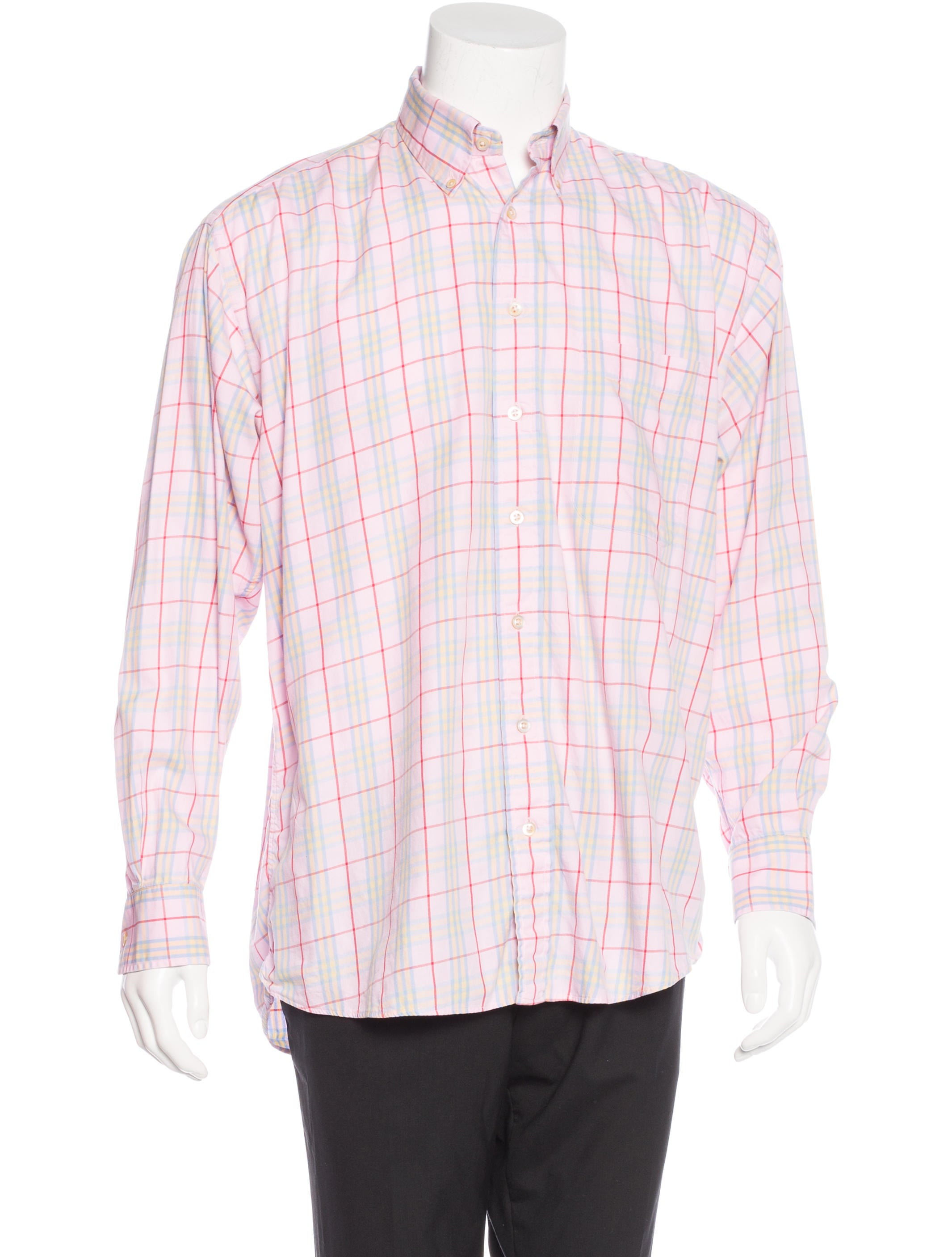 Burberry London Plaid Woven Shirt Clothing Wburl23869