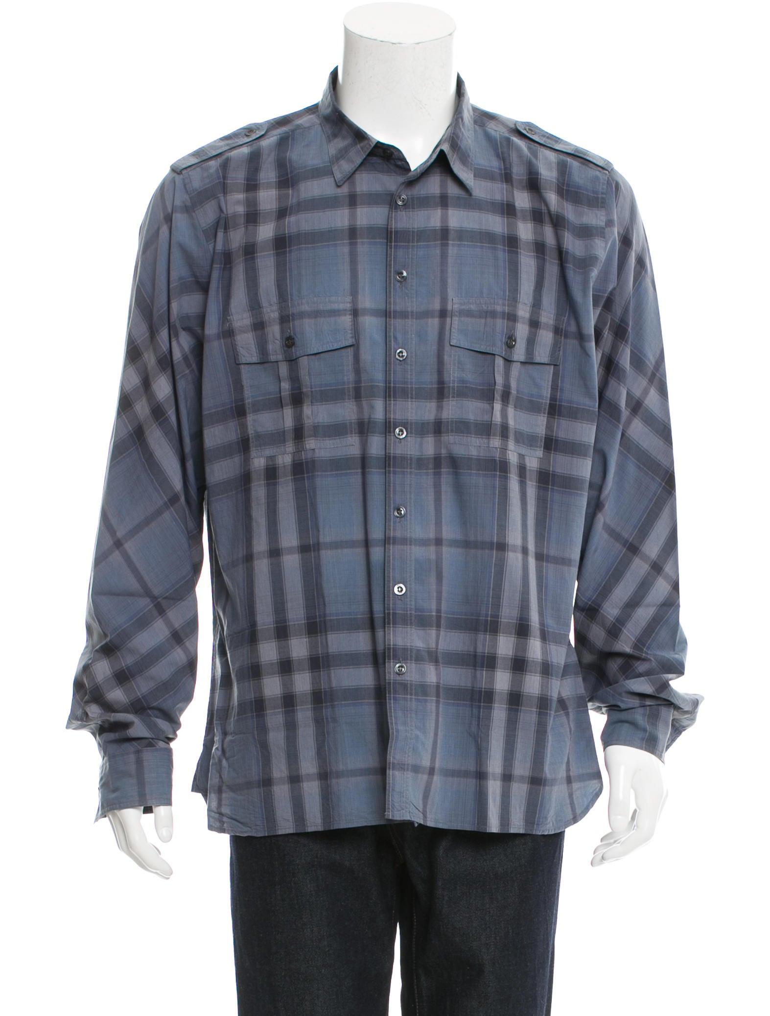 Burberry London Plaid Military Shirt Clothing